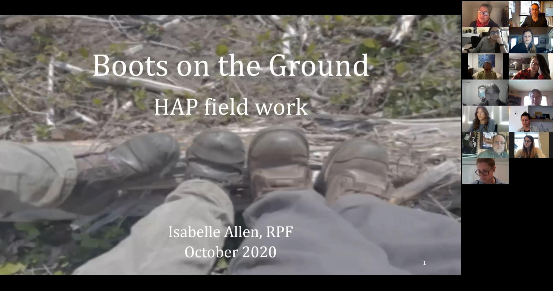October 2020 - Boots on the Ground